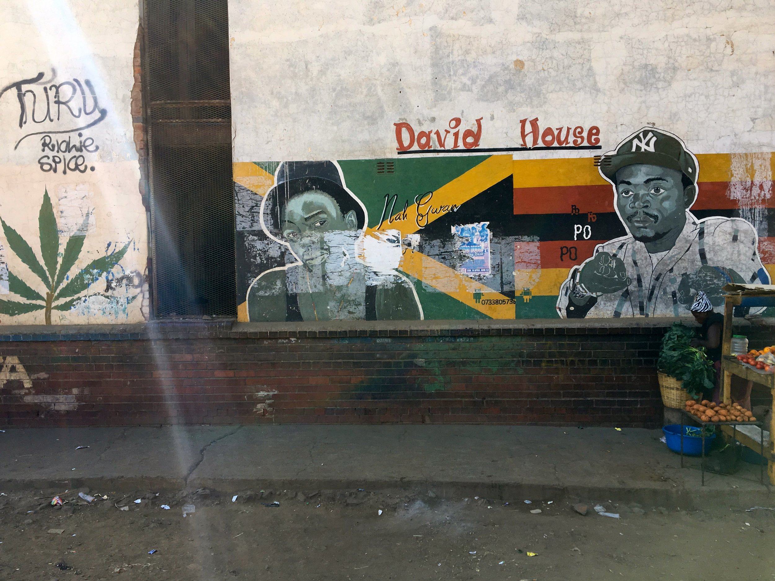 Graffiti works giving tribute to  artists,  Mbare, Harare