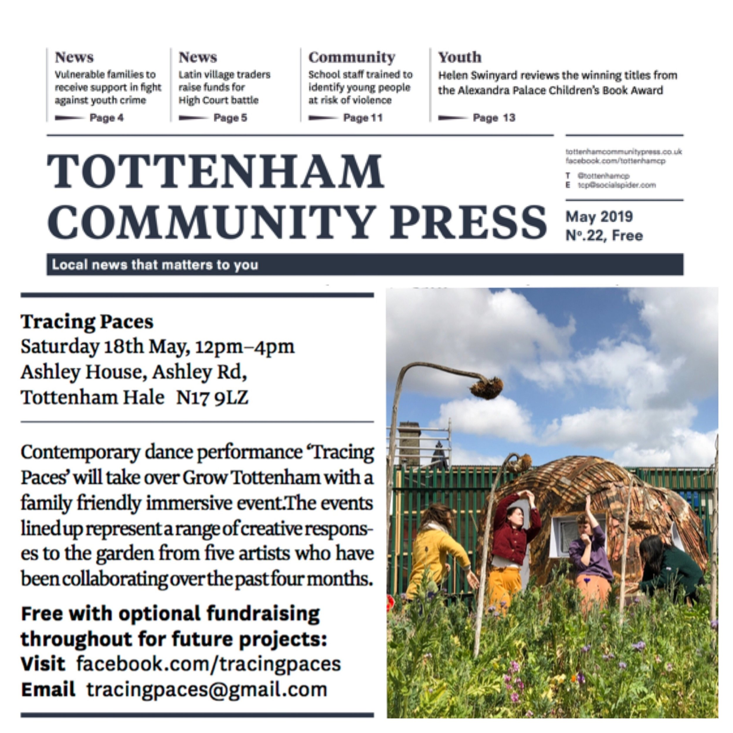 Tracing Paces in Tottenham Community Press