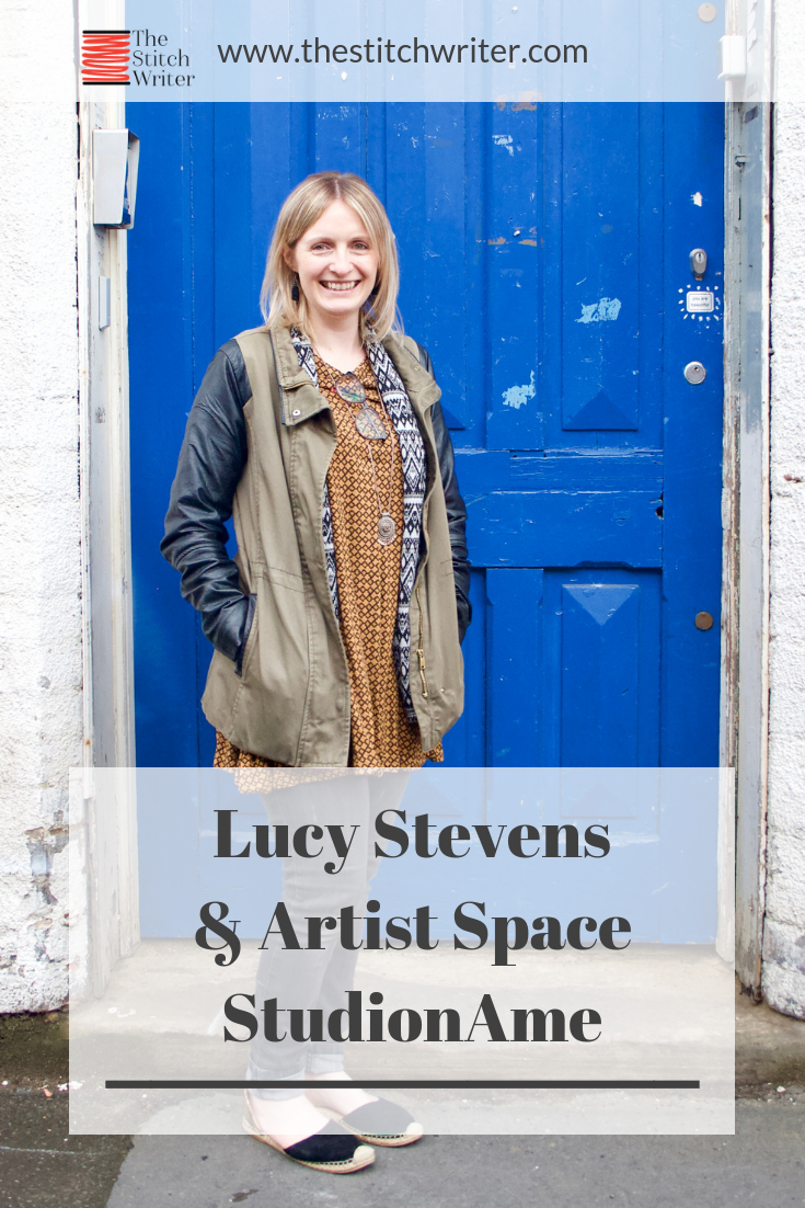 Lucy Stevens at the front door of StudionAme, Leicester