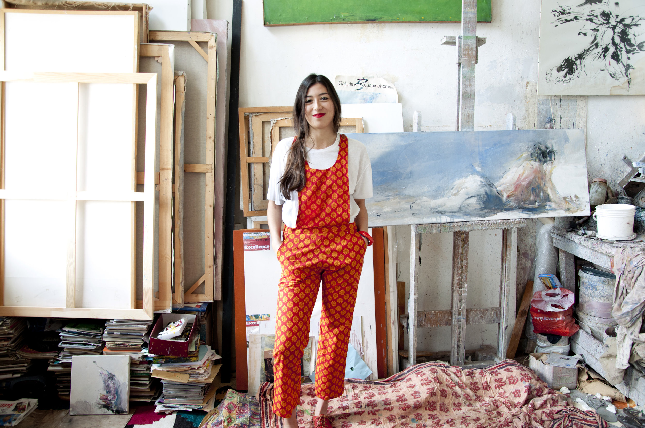 BECKY RED OVERALL -