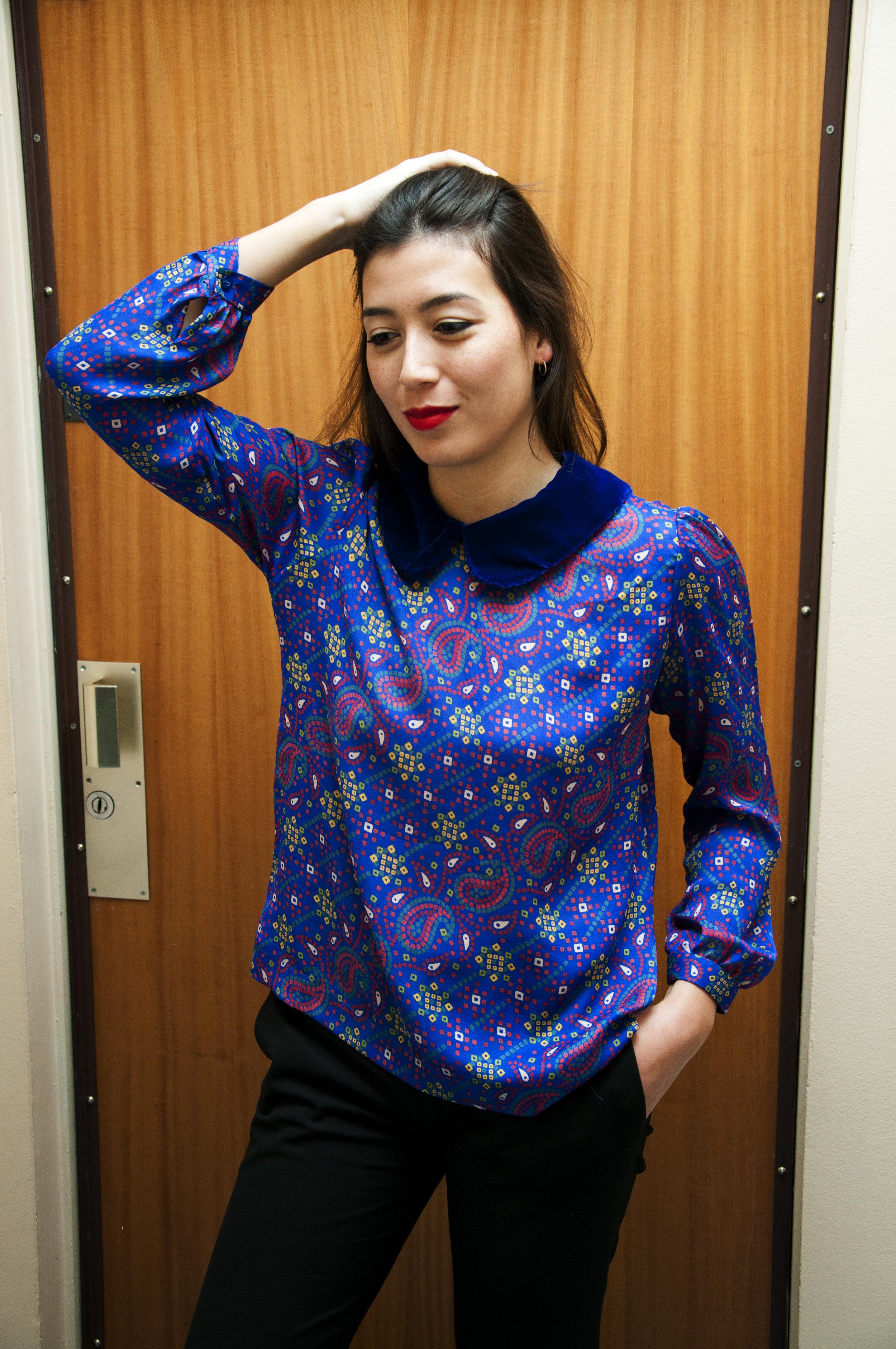 MATILDA BLUE TOP -