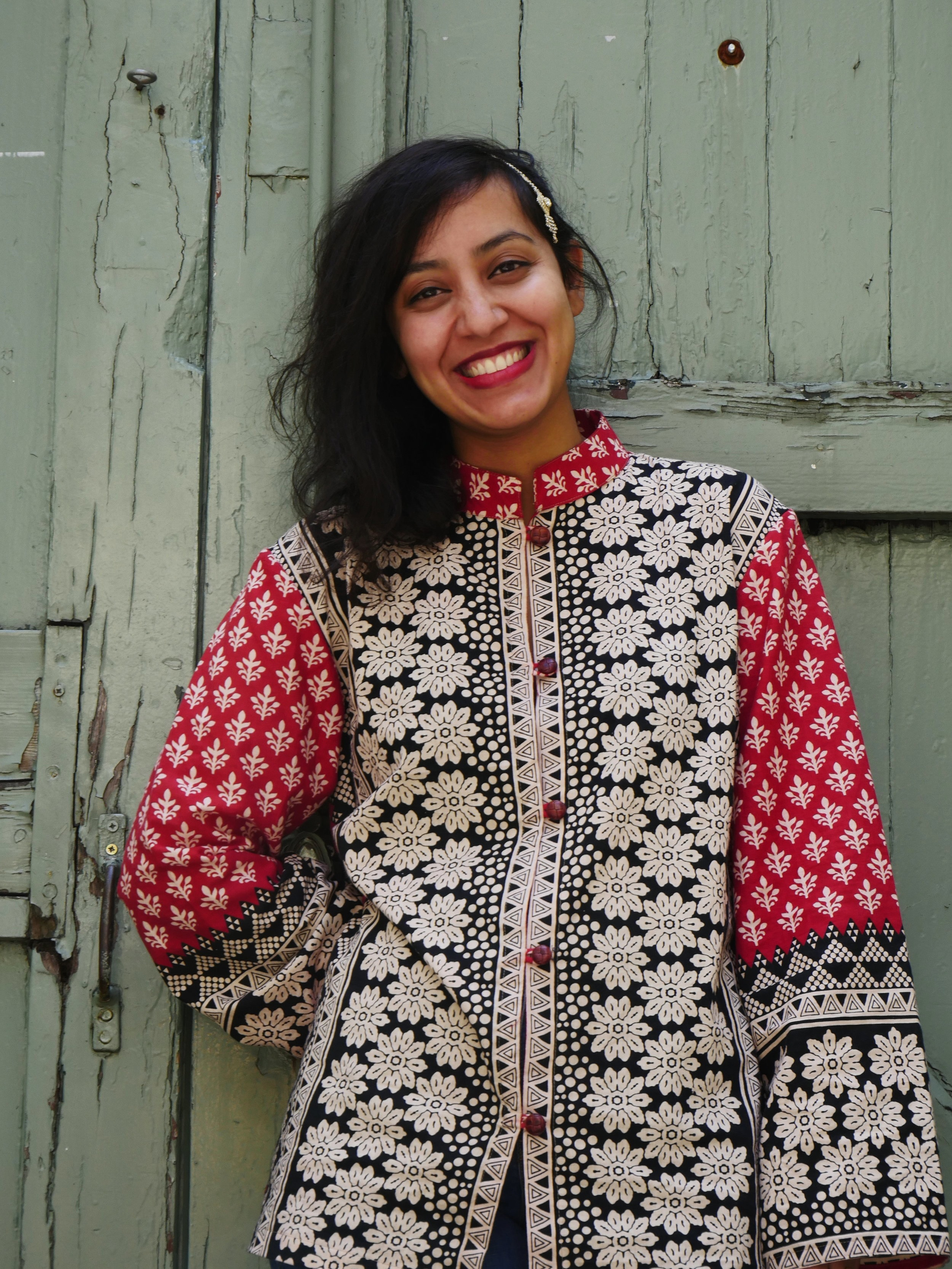 MELISSA RED KASHMIRI KIMONO - 100% Indian Cotton, made in Bangladesh with love