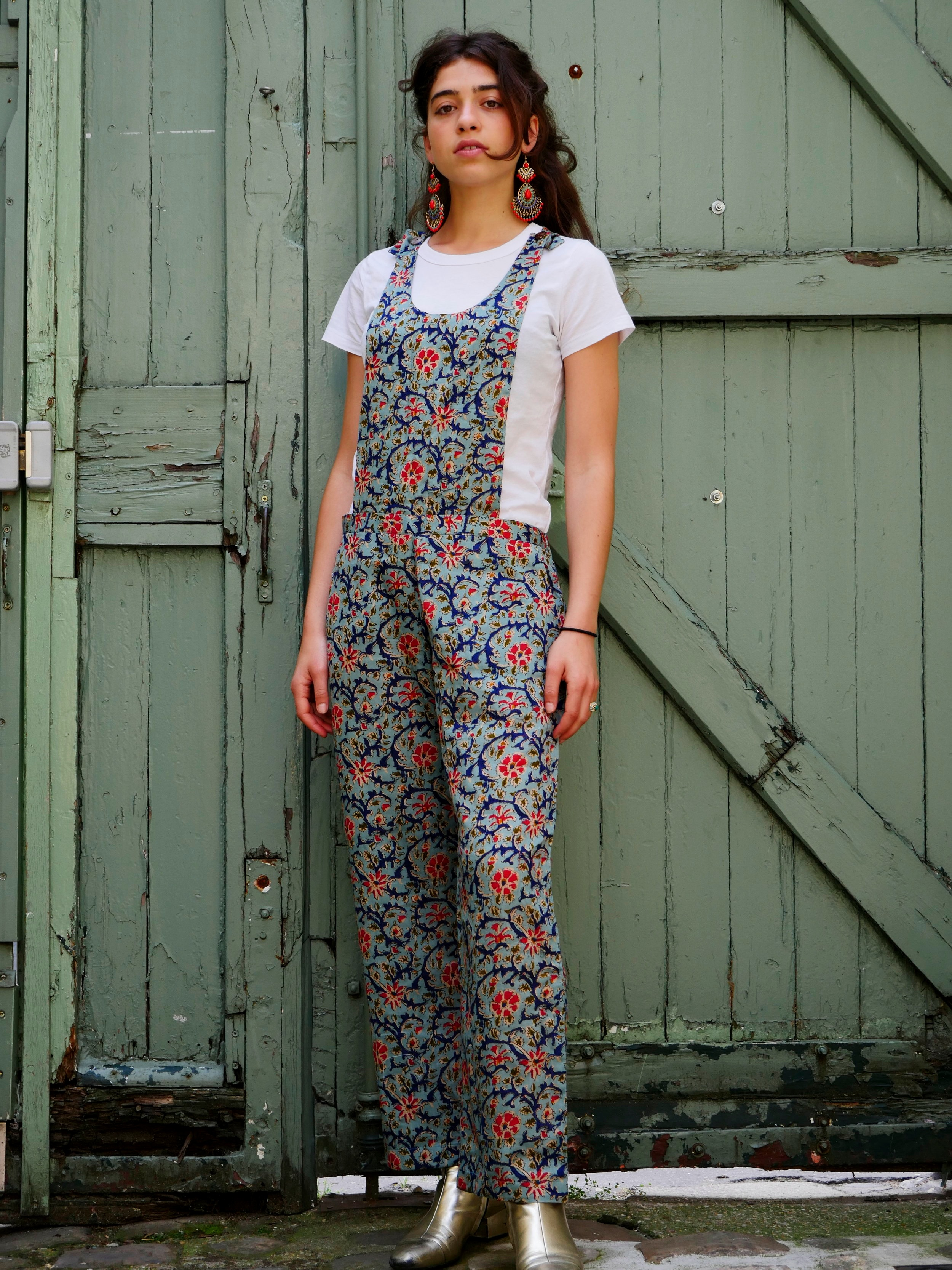 BECKY SKYBLUE OVERALL - Indian cotton, made in Bangladesh with love