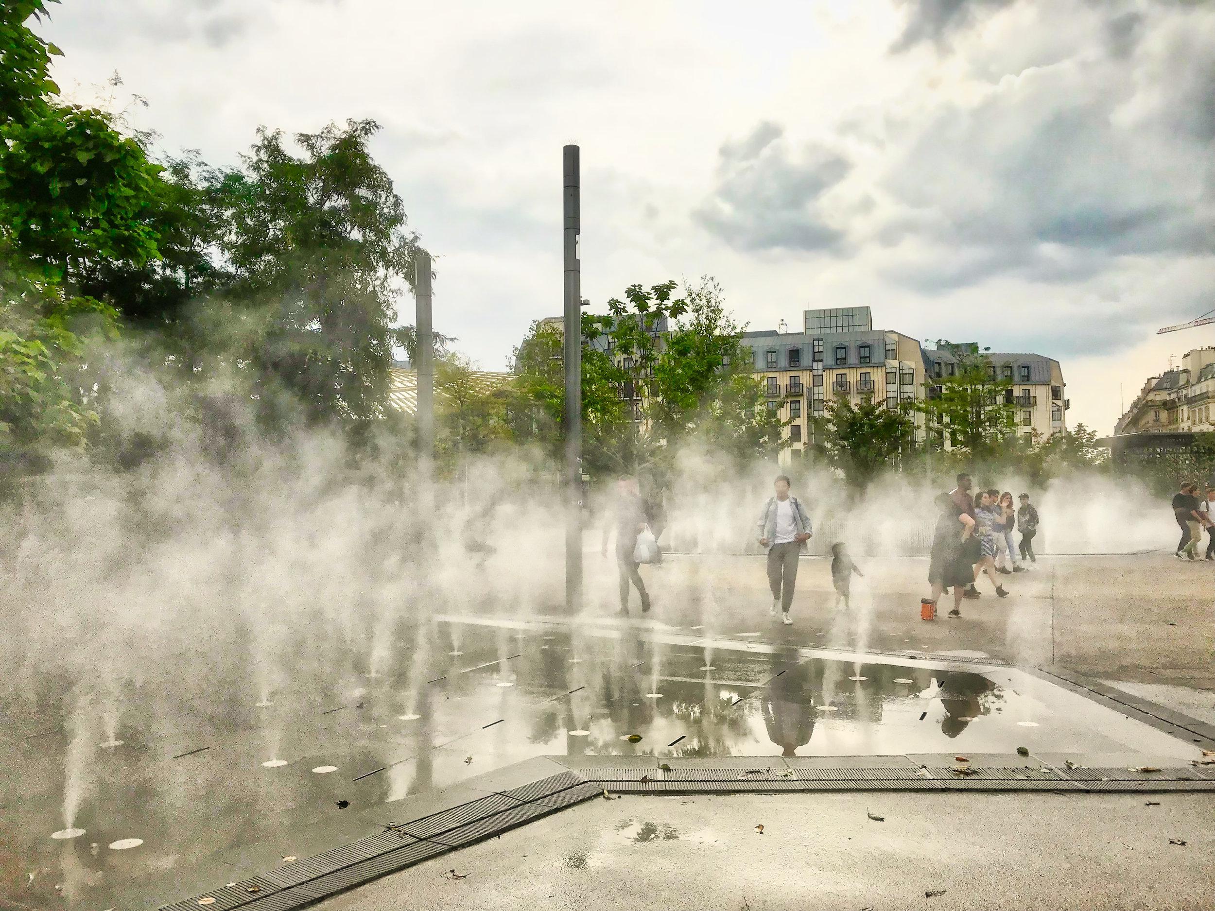 Steamy fountains