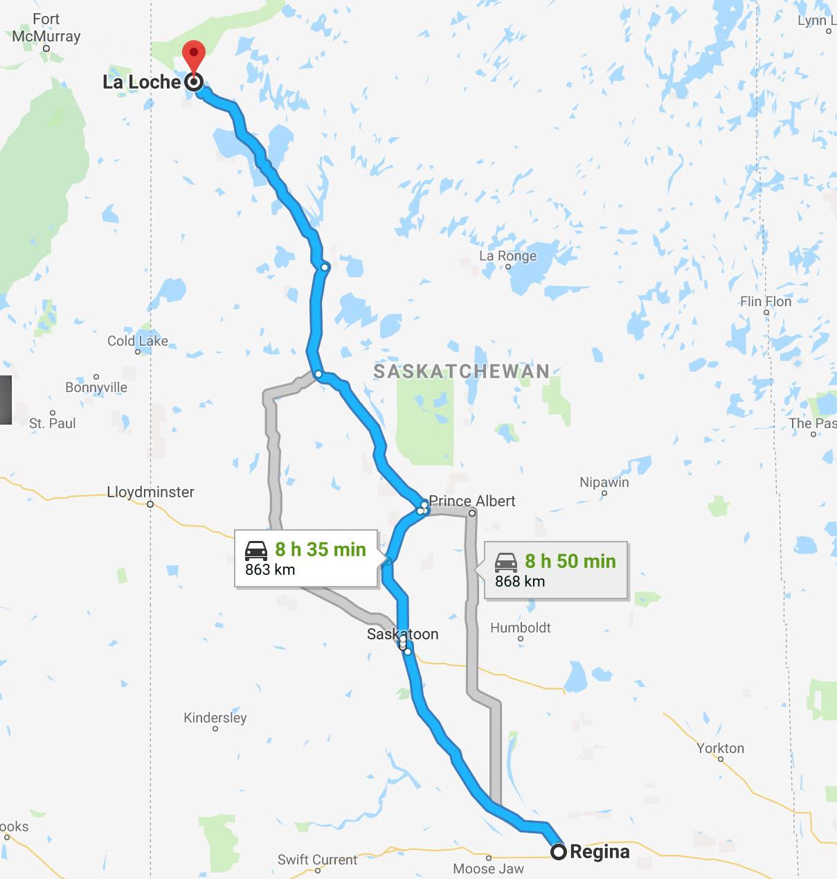 Regina to La Loche