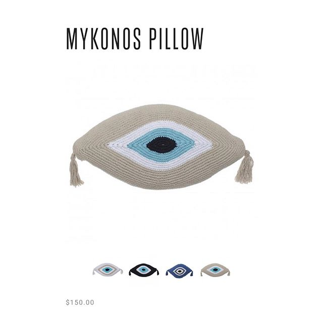 THE pillow.  Straight from Mykonos.  On sale now, and shipping from NYC. . . . 🧿 #stayprotected Shop this, and more at : www.matimatistudio.com . . . #islandstyle #homedecor #stayprotected #evileyepillow #mykonosvibes #summerloading #mykonosshopping #mykonos #greeksummer #nammos #nammosmykonos #nammosvillage #gigihadid #katemoss #emilyratajkowski #summervibes #vacation #greece #greekislands #greekislandstyle #fashion #summerlooks #matimaticollection  #evileye #protected #protectyourself  #evileyestyle #matimativibes