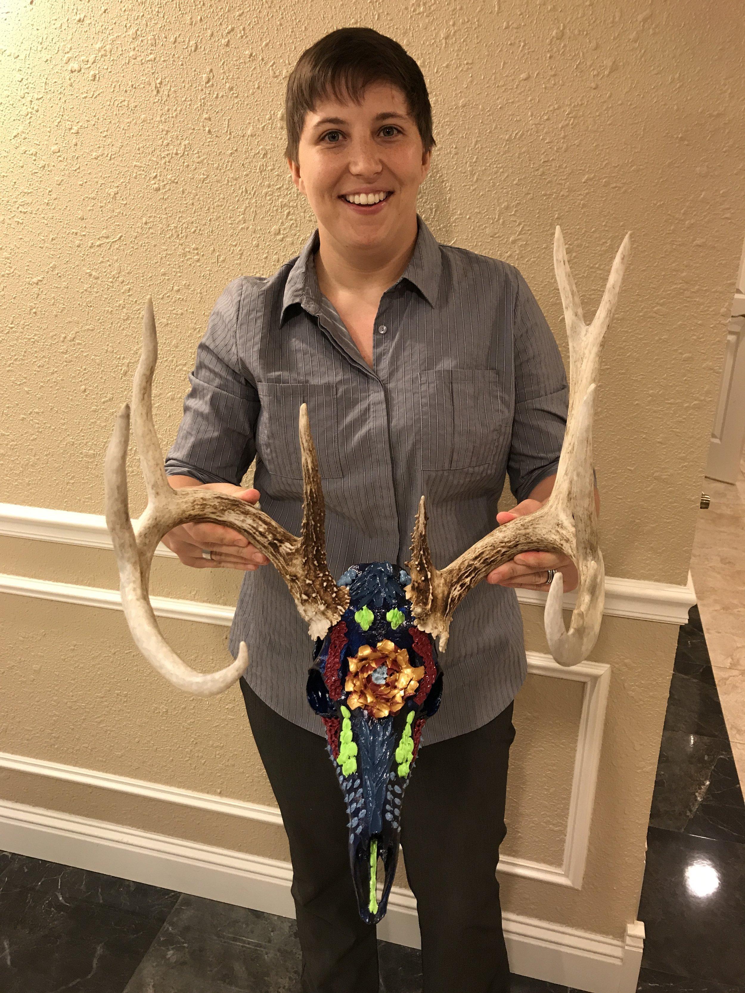 Painted Deer Skull — Erin Alice Art