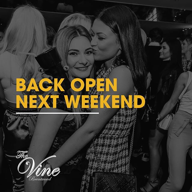 We're closed this weekend to recover from an amazing NYE, but back next weekend! . . . #DoItForTheVine #TheVine #Brentwood #Essex #Bar #Cocktails #Party #Weekend #Beer #Wine #Gin #DJ #House #HipHop #RnB #Mixology #CocktailTime #PartyTime #Drinks #Booze #Ginstagram #VIP #Tables #Bottles #NYE