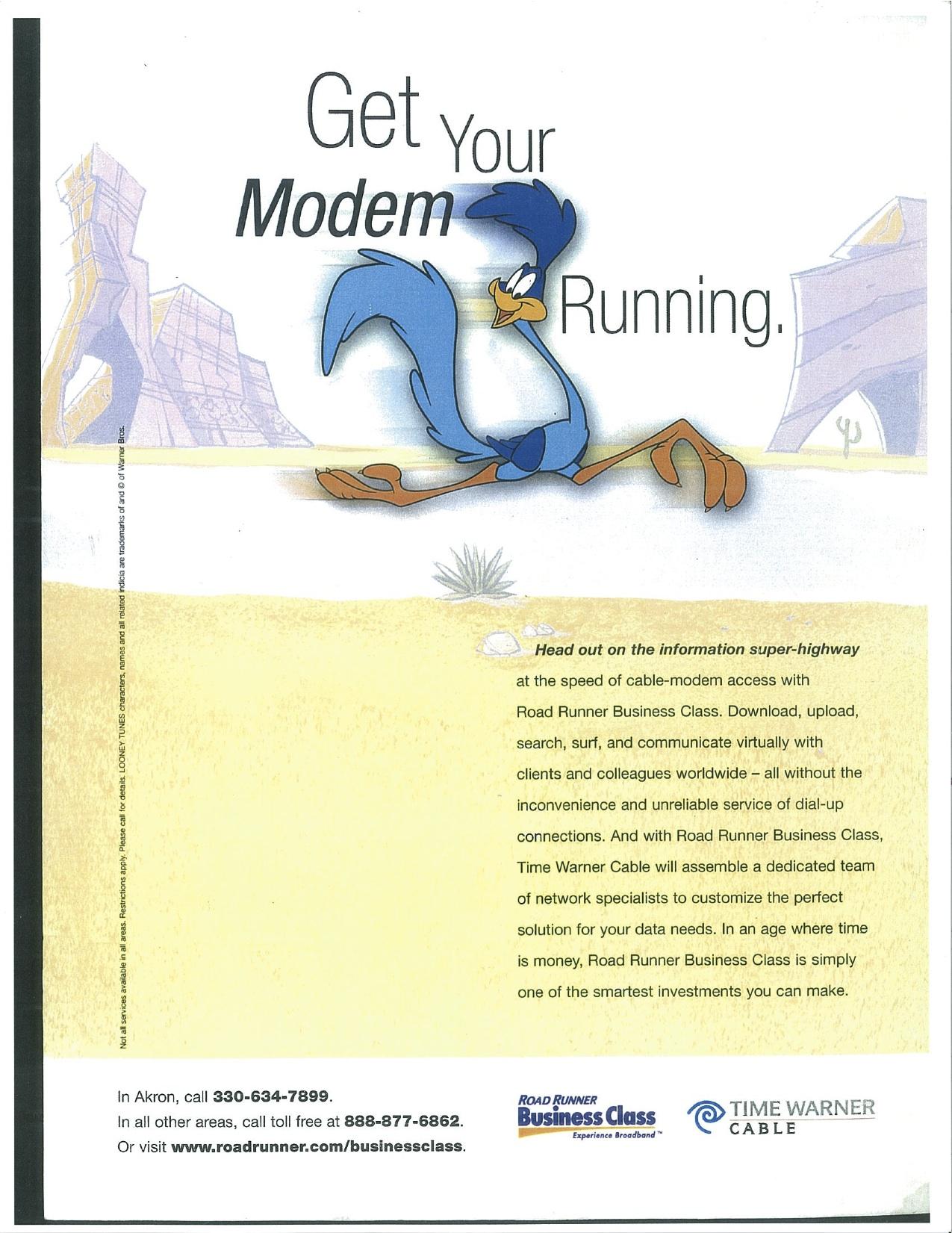 Roadrunner® Business Class Ad