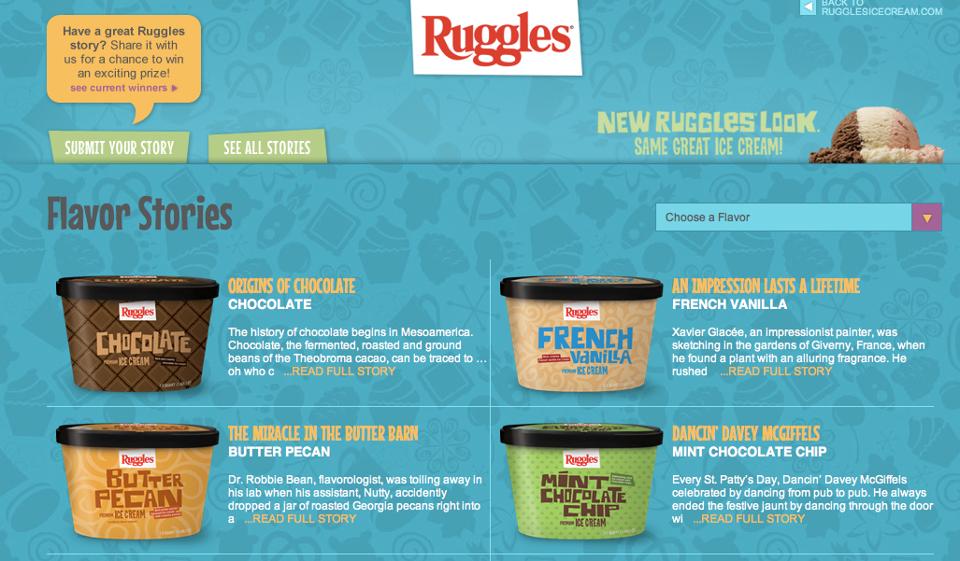 Ruggles™ Ice Cream Web Engagement