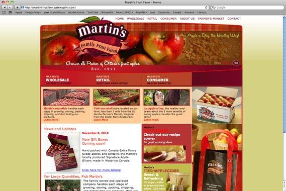 Martin's Fruit Farm Website Content