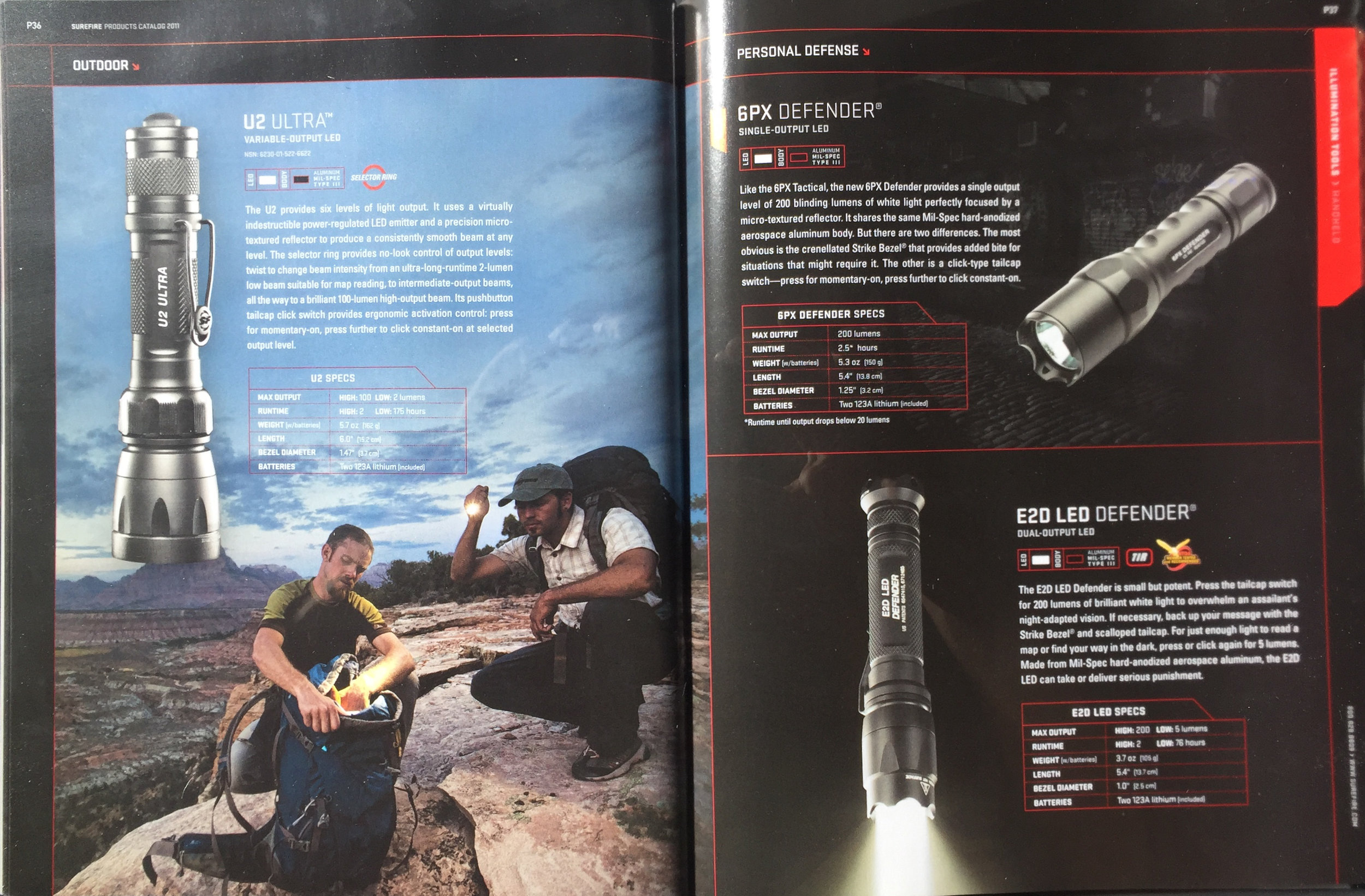 SUREFIRE CATALOG   MODEL: ERIC ODENTHAL  PHOTOGRAPHER;  GREG VON DOERSTEN