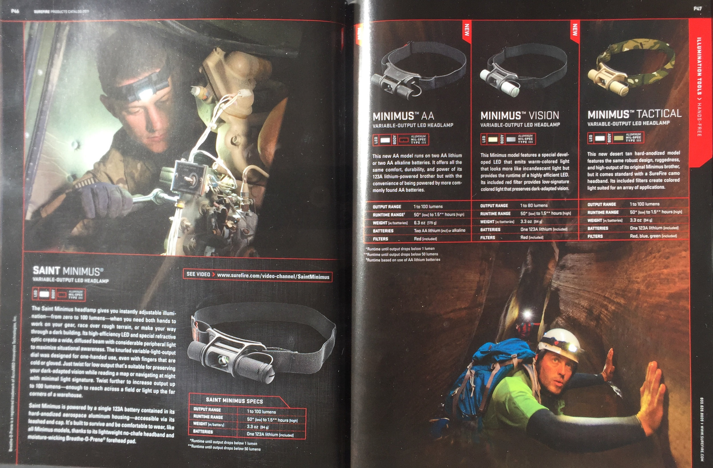 SUREFIRE CATALOG  ADVENTURE MODEL: ERIC ODENTHAL  PHOTOGRAPHER; GREG VON DOERSTEN