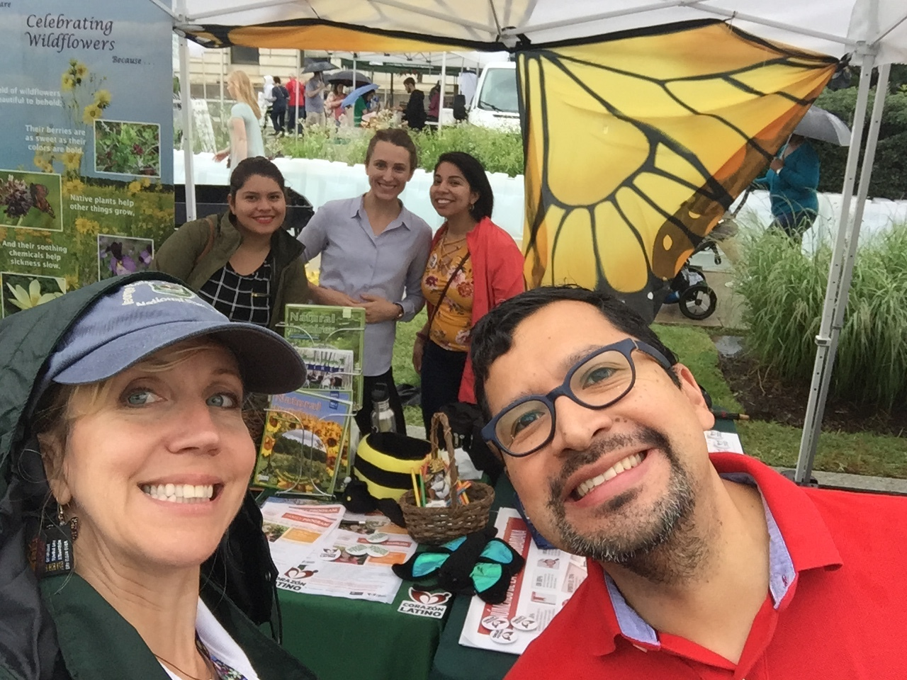 The USFS and Corazón Latino team fluttered over to the Pollinator Festival to talk about bees, bats, and butterflies.