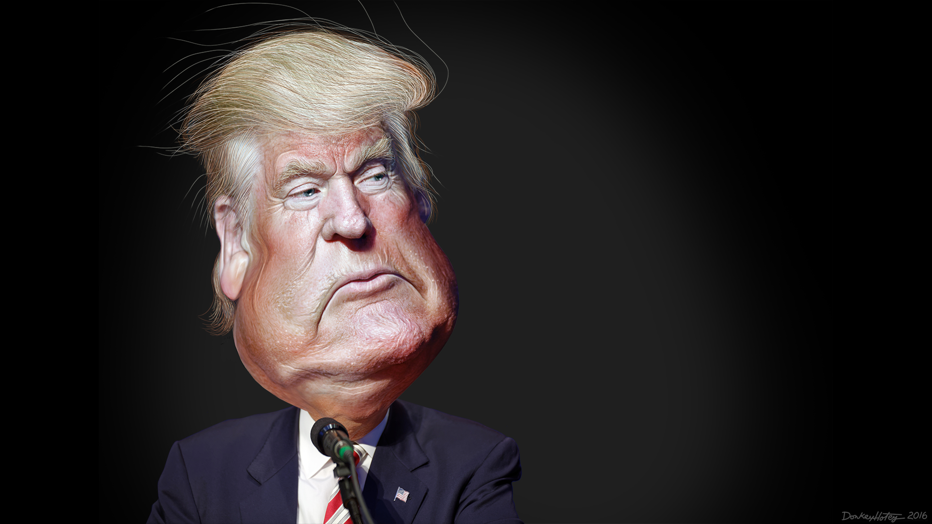 Donald Trump Caricature | by DonkeyHotey
