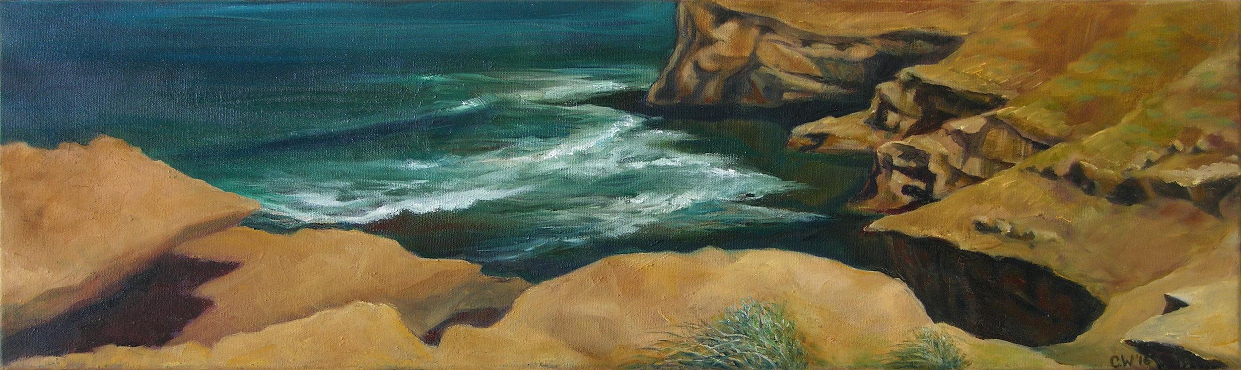Cliff Edge and Waves 2 23 x 76cm.jpg