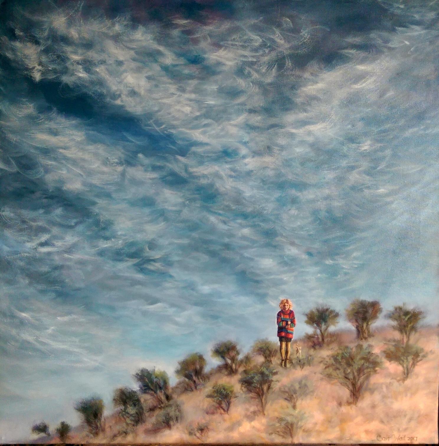 Self Portrait, Beltana 2018 oil on canvas, 76cm x 76 cm $600