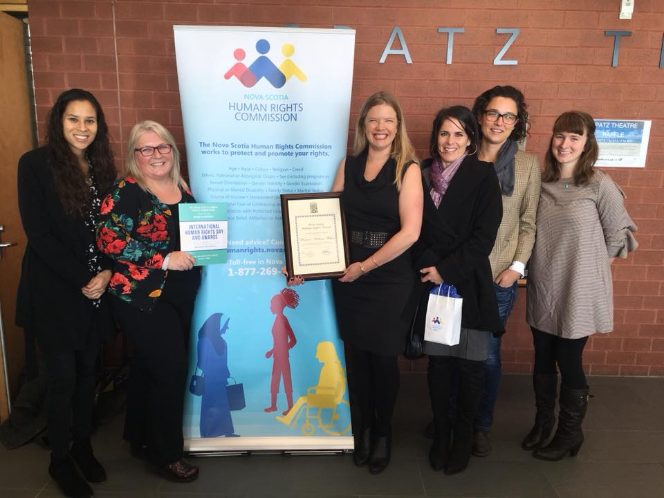 NOVA SCOTIA HUMAN RIGHTS COMMISSION AWARD - WE ARE HONOURED TO RECEIVE THE 50TH ANNIVERSARY OF THE NOVA SCOTIA HUMAN RIGHTS COMMISSION AWARD. WE WILL KEEP WORKING FOR REPRODUCTIVE JUSTICE, THE RIGHT TO PARENT, THE RIGHT TO HEALTH, AND DECARCERATION.