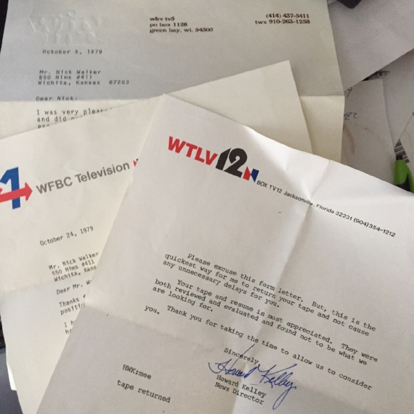 Some of the rejection letters I found.