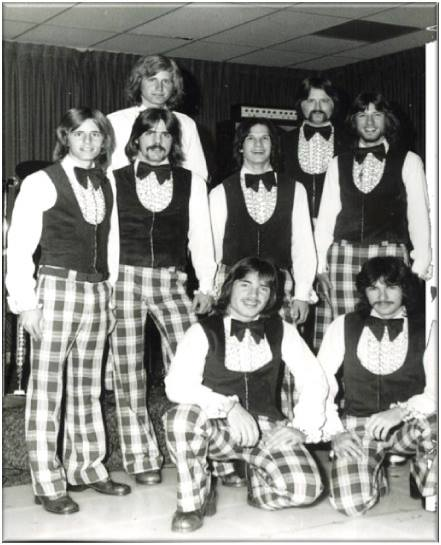 Even in the 70s, these outfits were a bit over the top. Ten points if you can find me in this photo. (Leave your guess in the comment section below.)