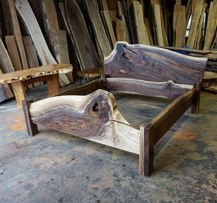 Black walnut king bed