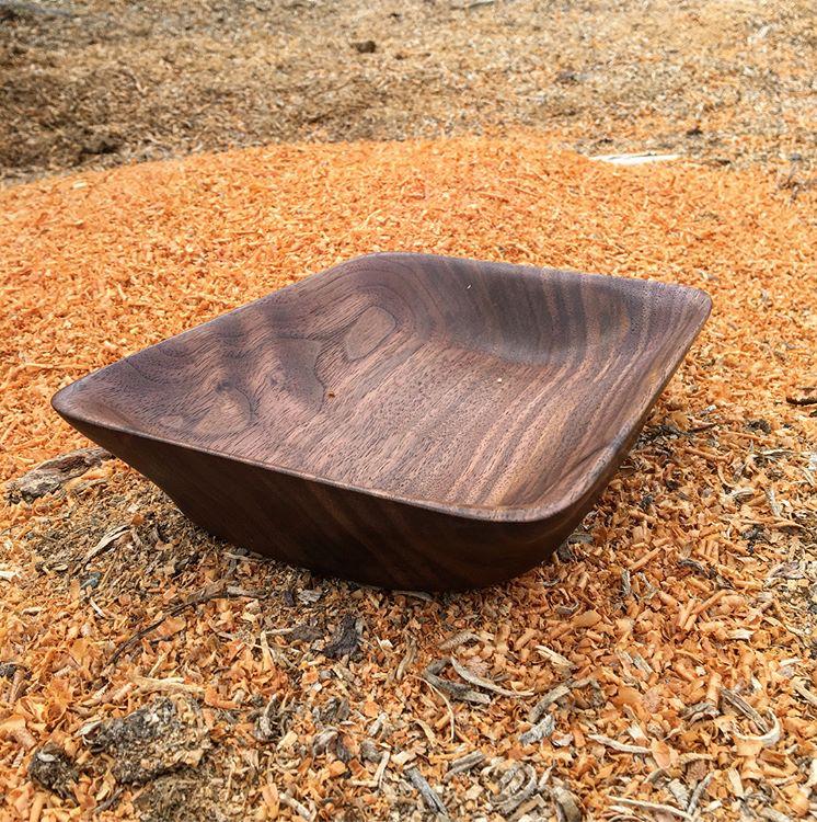 Black walnut wooden bowl