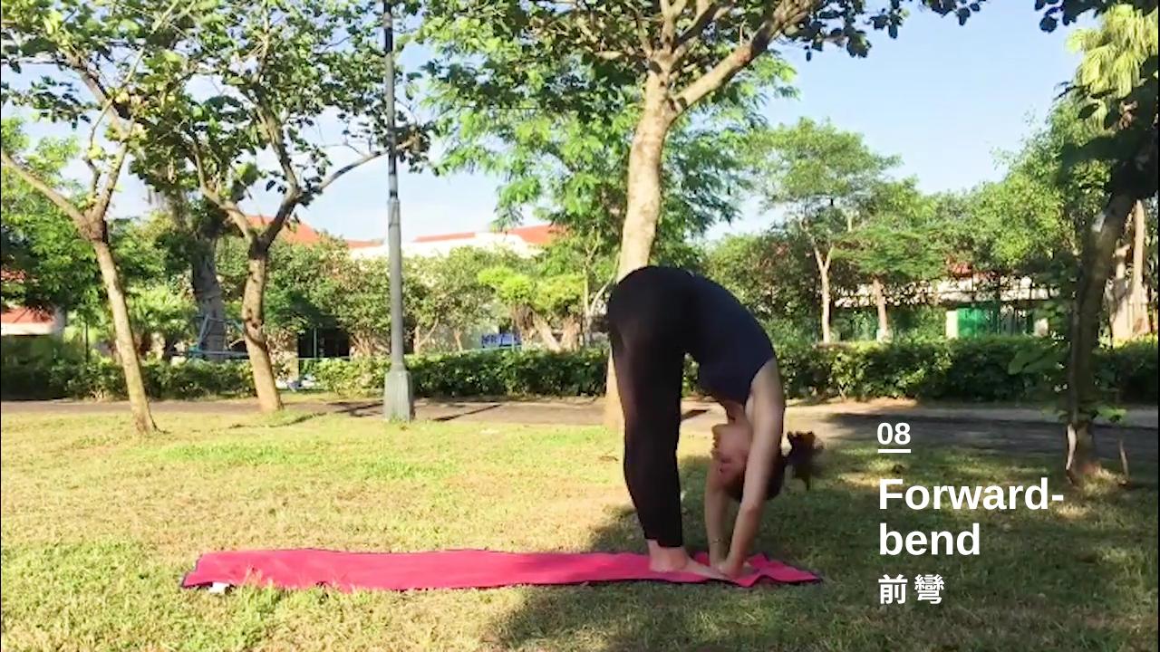 第八步:站立前彎 Standing Forward Bend