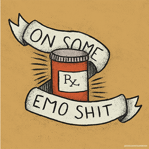 On Some Emo Shit Illustration