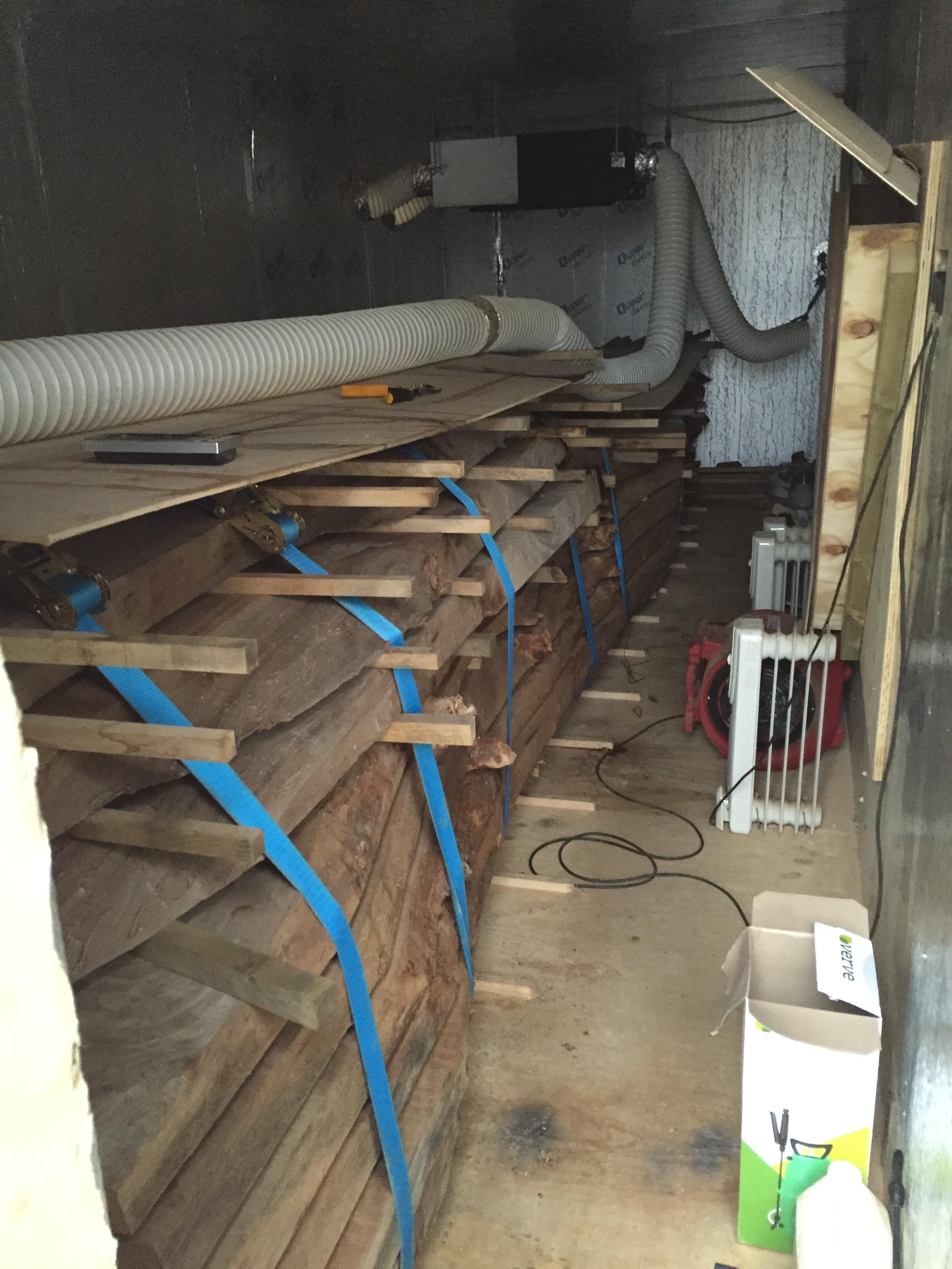 Drying elm in kiln for tabletops