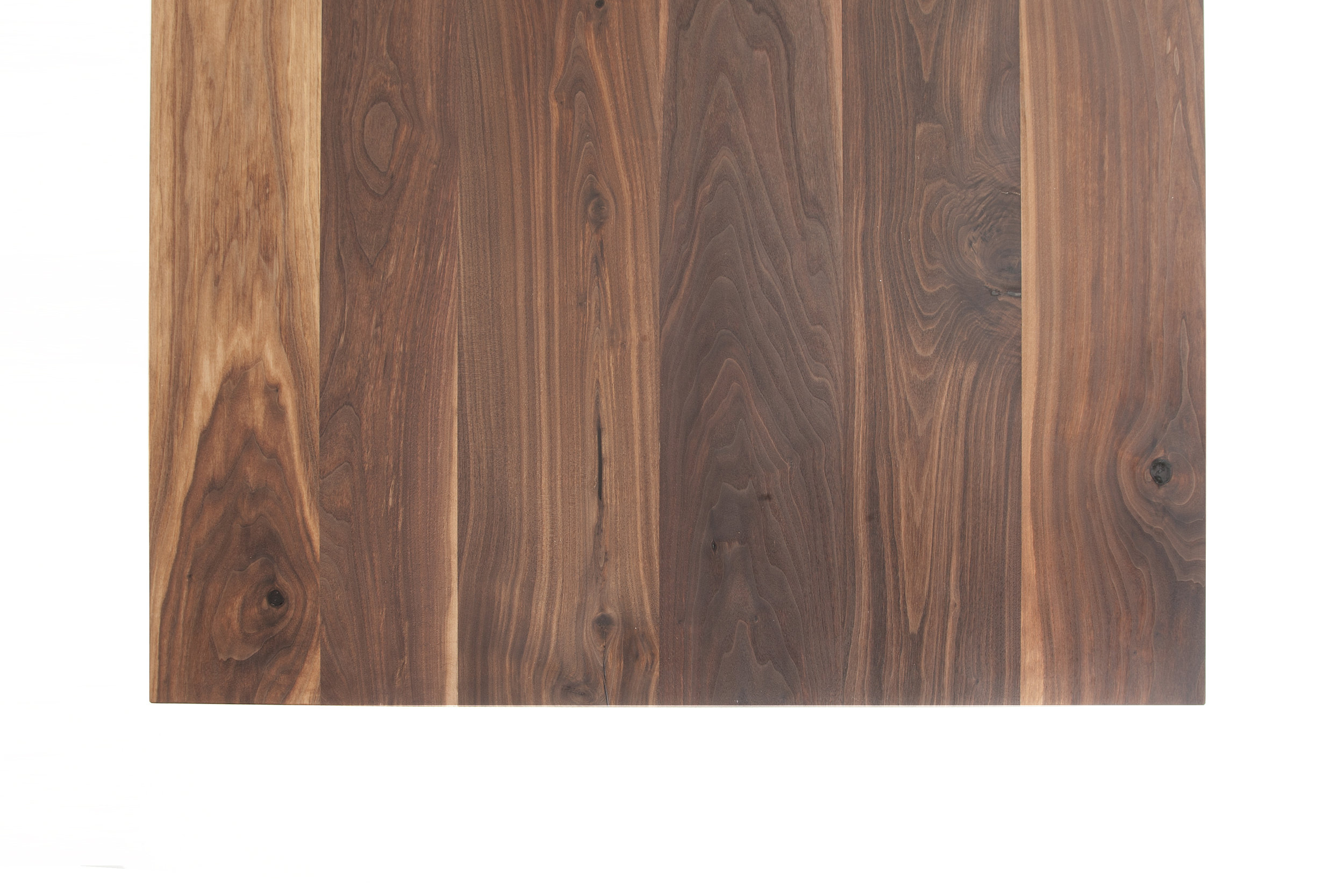 American black walnut top random width