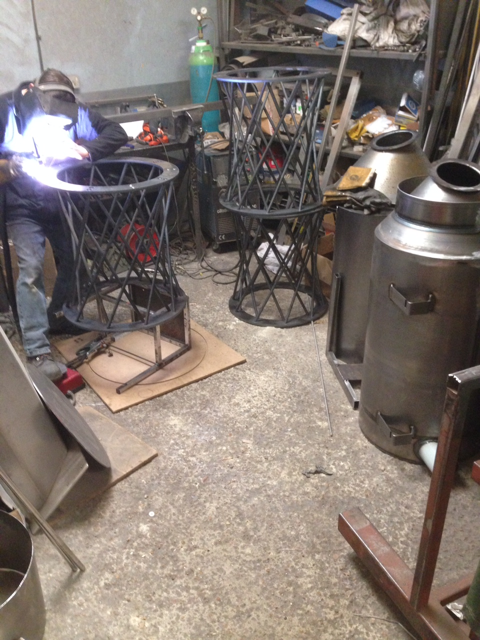 Raw steel spiral bases