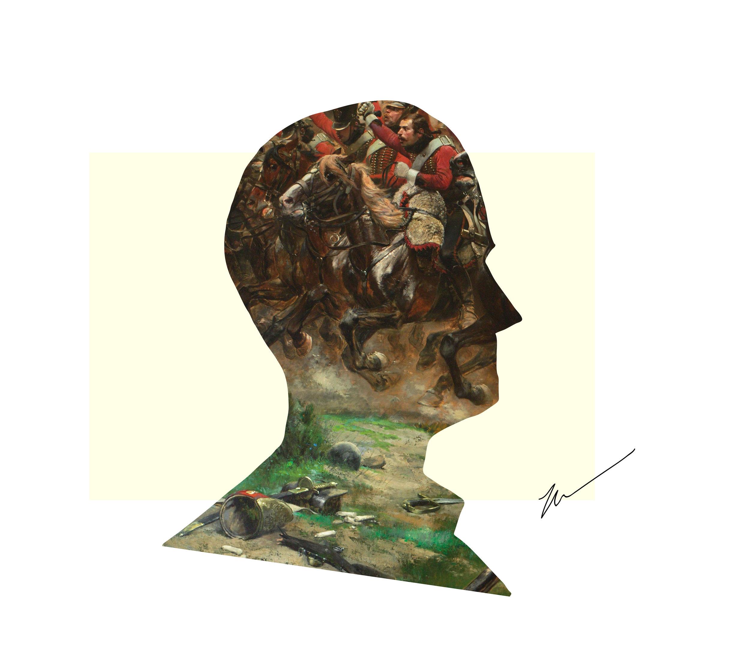 Illustration by Mohnish Soundararajan  (that's me) . Painting:  Vive L'Empereur!  by Édouard Detaille.