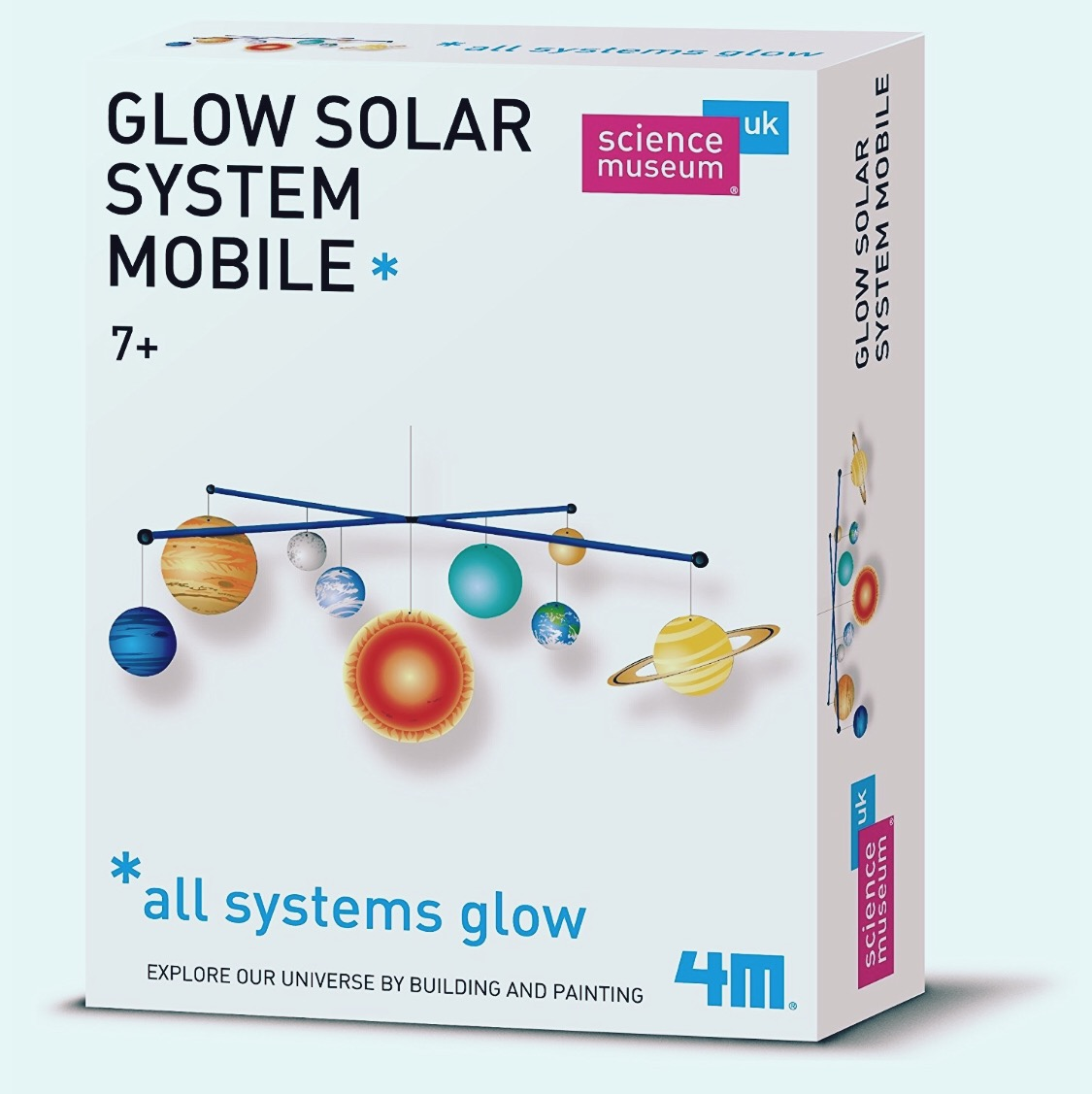 Solar System Mobile Kit.   Felix would really enjoy sitting down and creating this, and there's a few similiar sets about.
