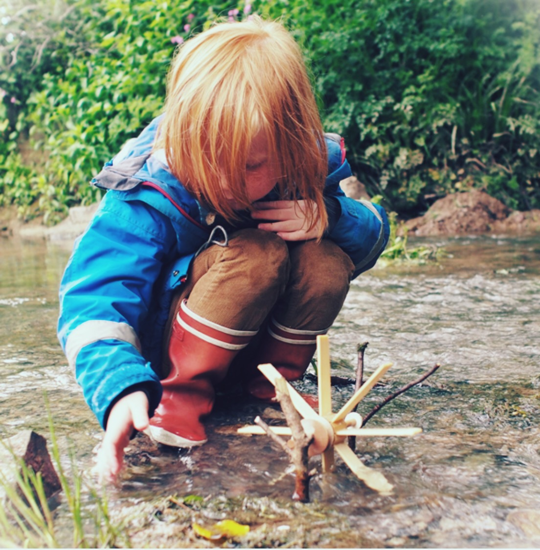 Outdoors. Love this Kraul Waterwheel Kit and at £8.50 it's a really original gift idea. There's plenty of different outdoor/natural exploration toys over at  Myriad Online.