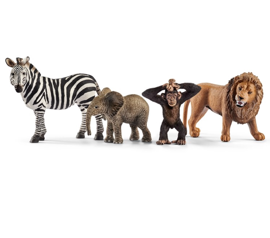 Schleich Animals.   The nicest quality animals which get played with again and again.