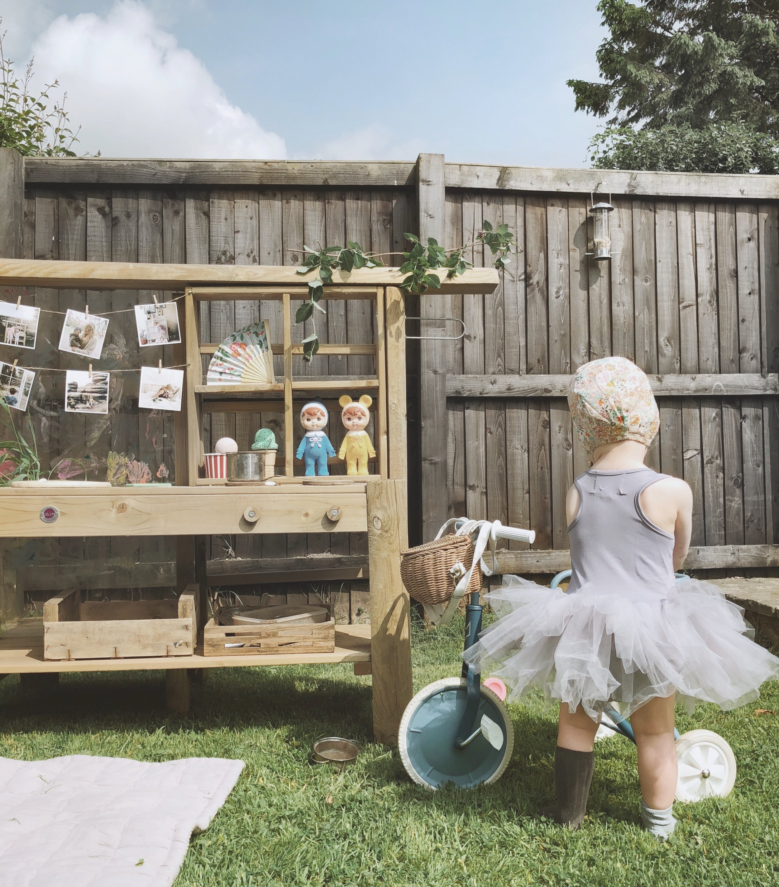 The fox rider trike is always a big favourite, especially when adorned with an OlliElla chari bag. Mud kitchen by Plum Play UK