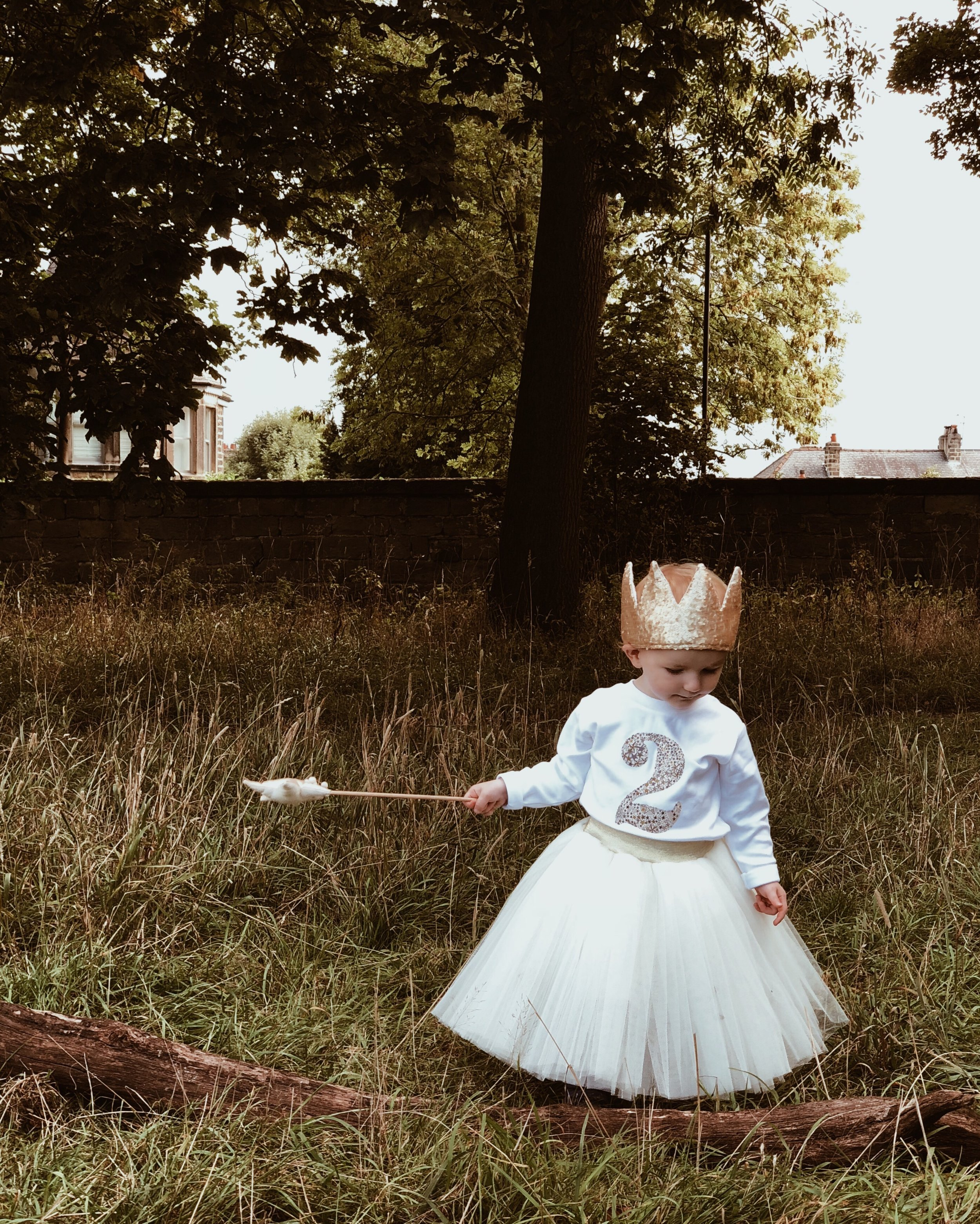 Willa's beautiful birthday outfit comes from Magnificent Stanley and Fable Heart.