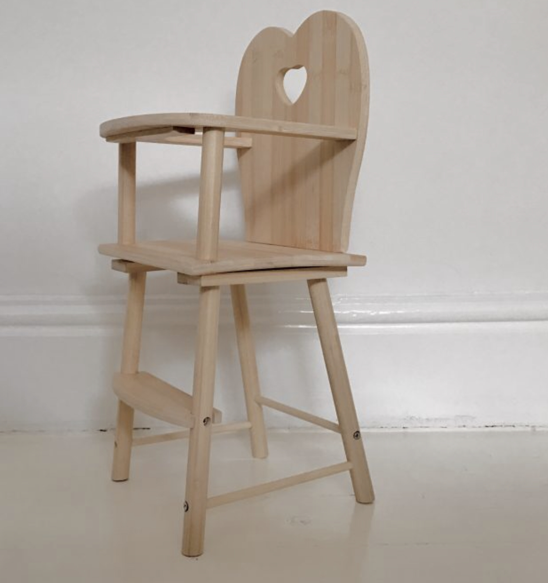 The prettiest dolls high chair. Again, one I'll be ordering for my own little one, it's the nicest dolls high chair I've seen.    https://www.thetipi.co.uk/product/natural-wooden-highchair-for-dolly/