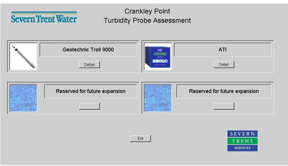 Fig 1: Netrix System Online Showing two applications being monitored, including the turbidity