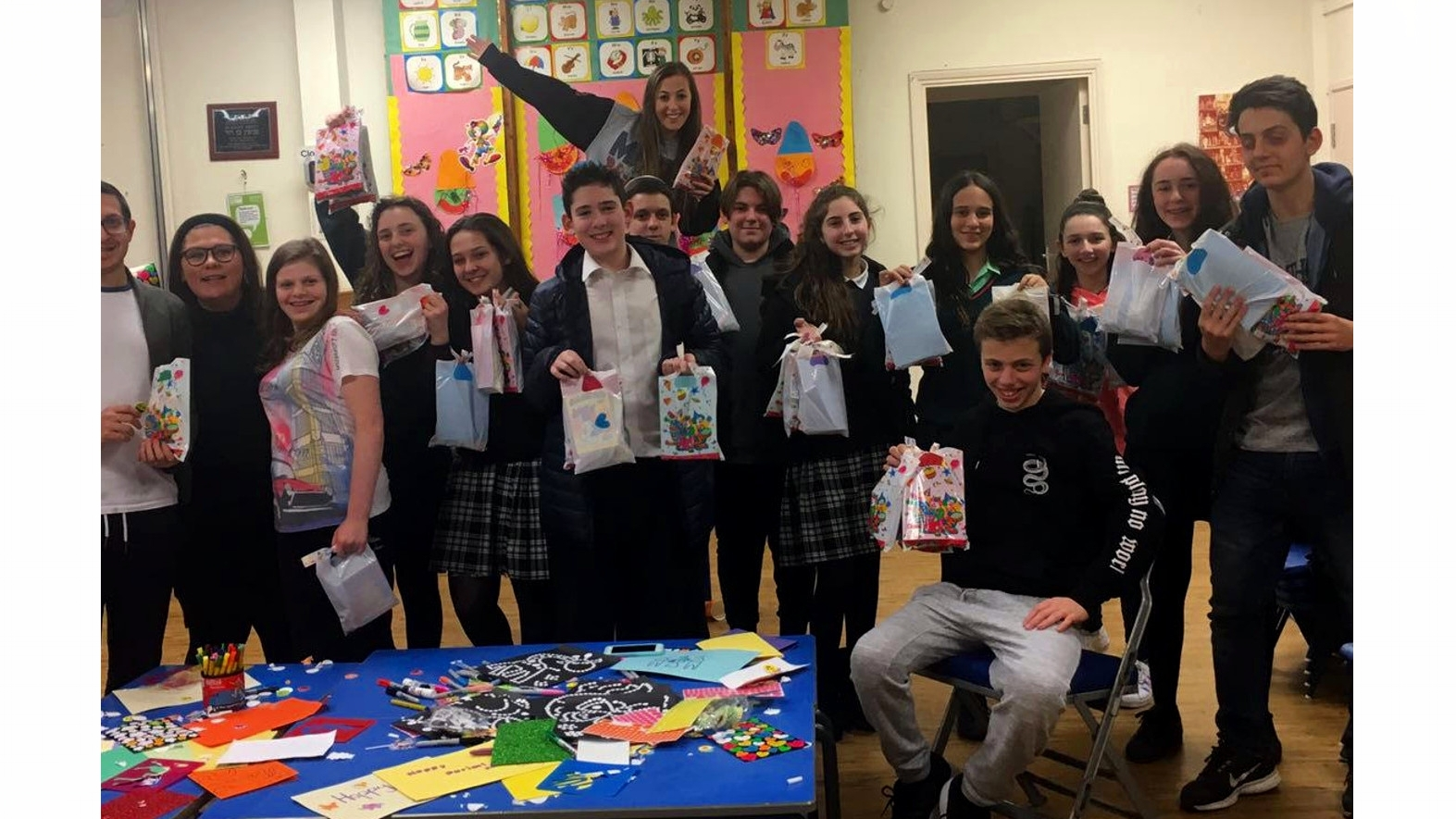 Making gifts for sick children with Camp Simcha