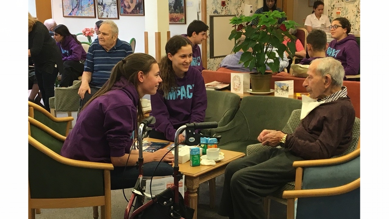 Volunteers visiting residents at the Spring Grove Care Home