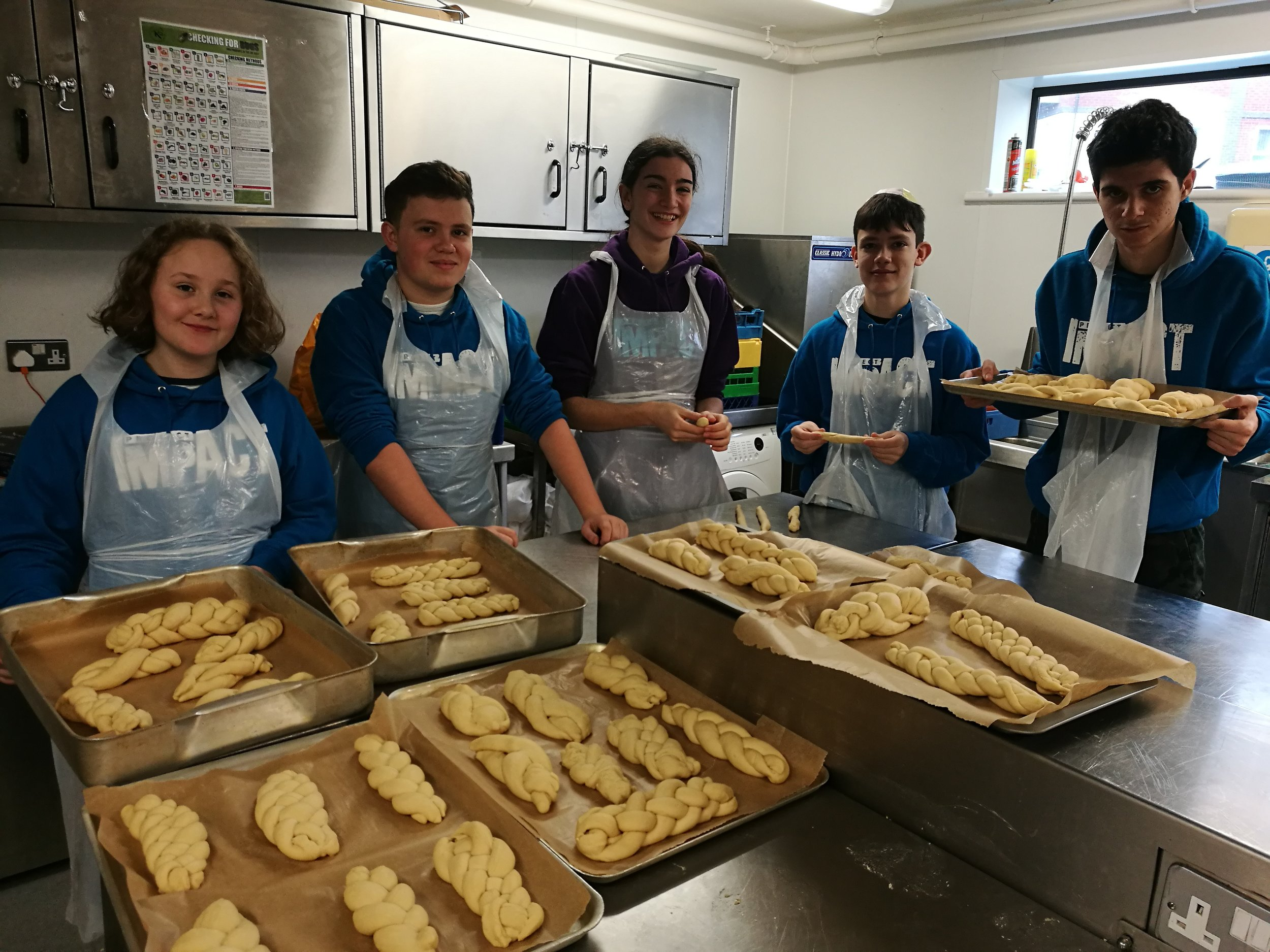 Volunteers making Challah for the community - Cardiff ImpACT