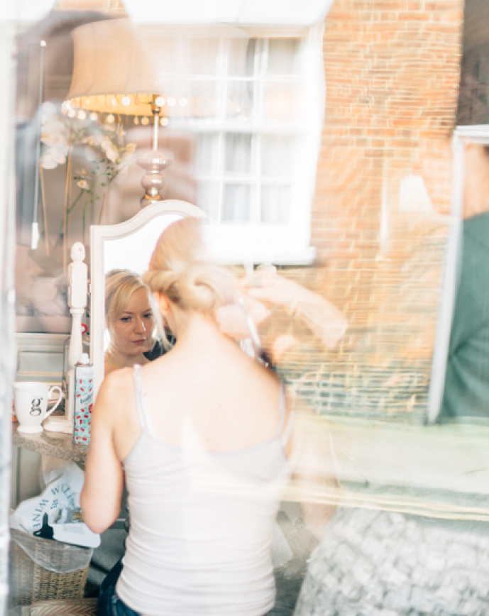 Polly. The George in Rye. East Sussex. Simply Beautiful Wedding Hair.co.uk