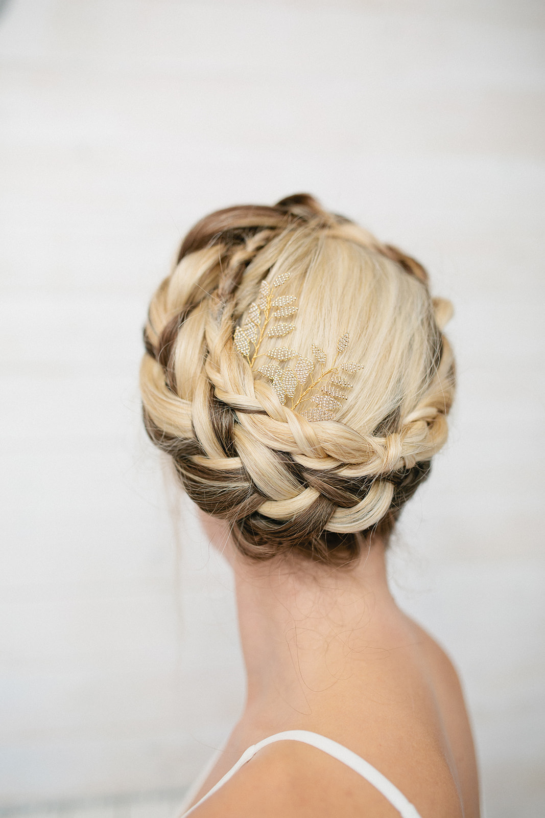 Milkmaid braid- simply beautiful wedding hair
