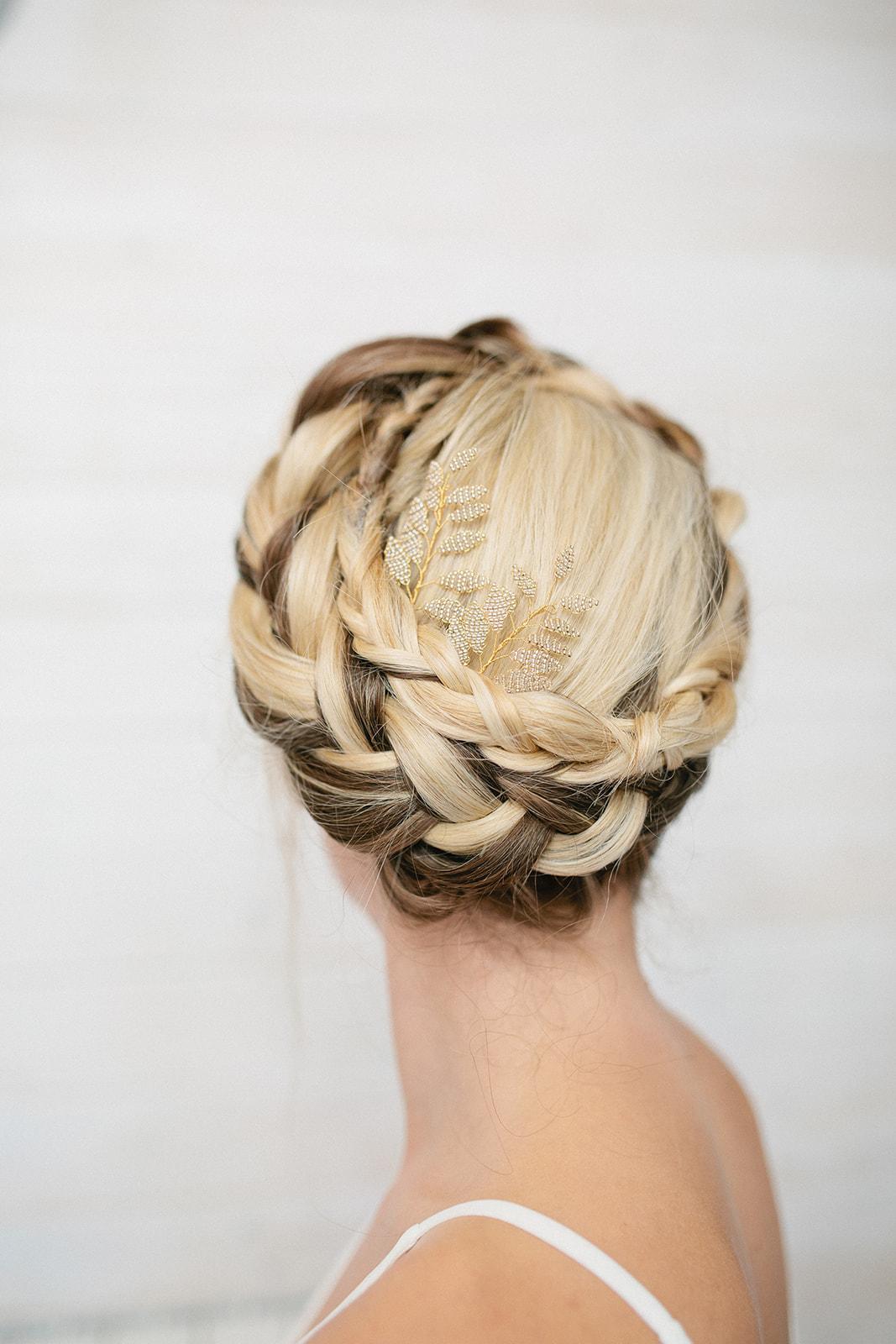 Milkmaid braid- simply beautiful wedding hair