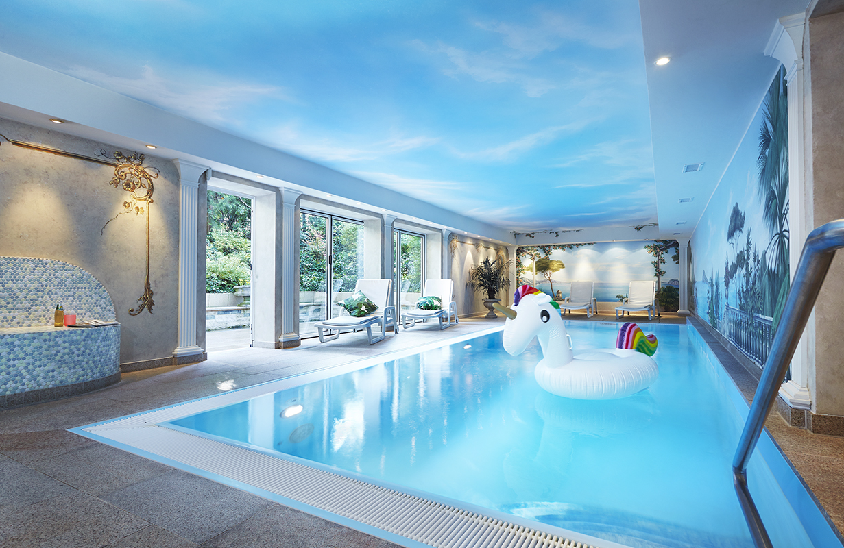 DIVE INTO THE POOL - There is an adventure swimming pool with sun terrace and a rainforest aroma shower as well as a relaxation room. Our Finnish and Roman saunas are available for a fee. Afterwards you can let yourself be pampered in our in-house beauty salon.