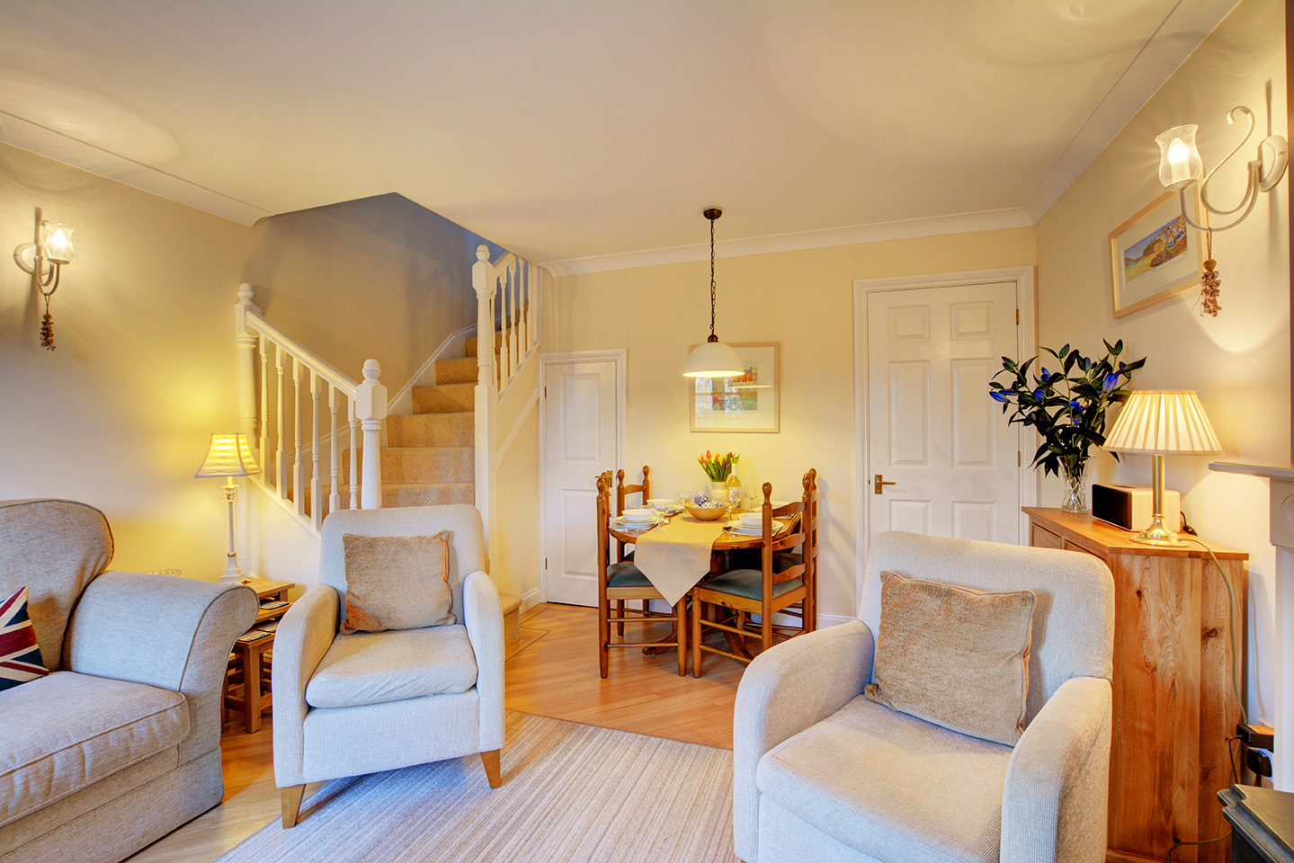 Ship Shape cosy holiday cottage in seaside harbour of Padstow living room 6.jpg