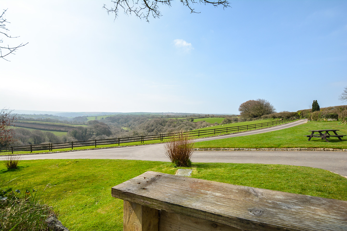 The view from Jingles luxury self catering holiday cottage at Penrose Burden in North Cornwall near Bodmin Moor.jpg