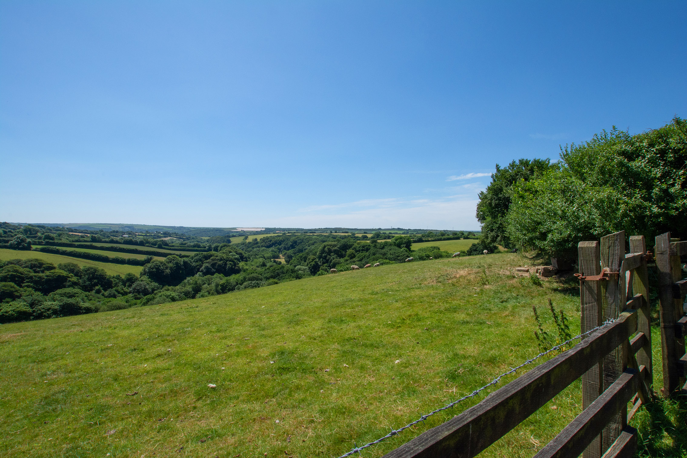 The view from Penrose Burden luxury self catering converted barn holiday cottages in North Cornwall 02.jpg