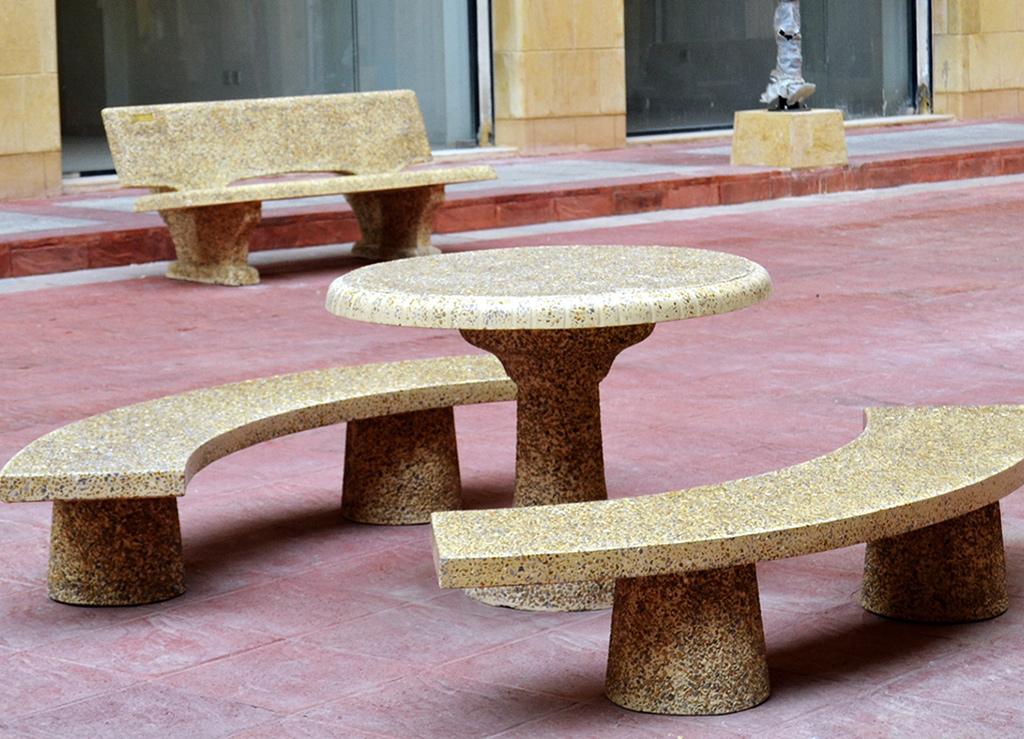 Artistico Table & 1/4 Circle Bench